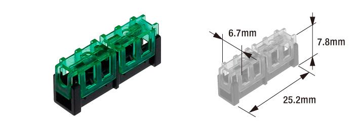 圧接中継コネクタ(直線接続)
